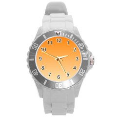 Orange To Peach Gradient Plastic Sport Watch (large)
