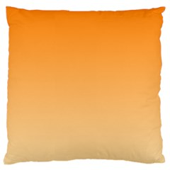 Orange To Peach Gradient Large Cushion Case (one Side)