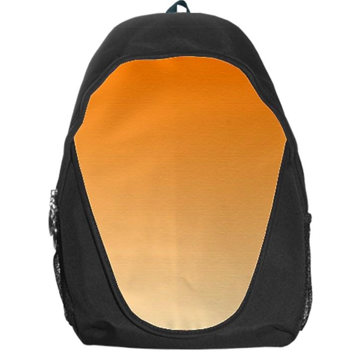 Orange To Peach Gradient Backpack Bag