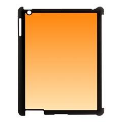 Orange To Peach Gradient Apple Ipad 3/4 Case (black)