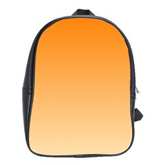 Orange To Peach Gradient School Bag (XL)