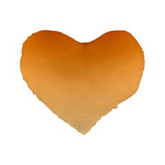 Orange To Peach Gradient 16  Premium Heart Shape Cushion
