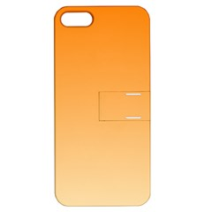 Orange To Peach Gradient Apple iPhone 5 Hardshell Case with Stand