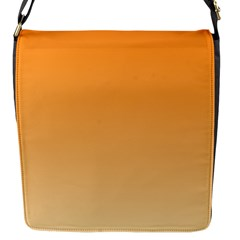 Orange To Peach Gradient Flap closure messenger bag (Small)