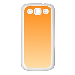 Orange To Peach Gradient Samsung Galaxy S3 Back Case (White)