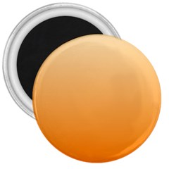Peach To Orange Gradient 3  Button Magnet