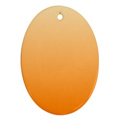 Peach To Orange Gradient Oval Ornament