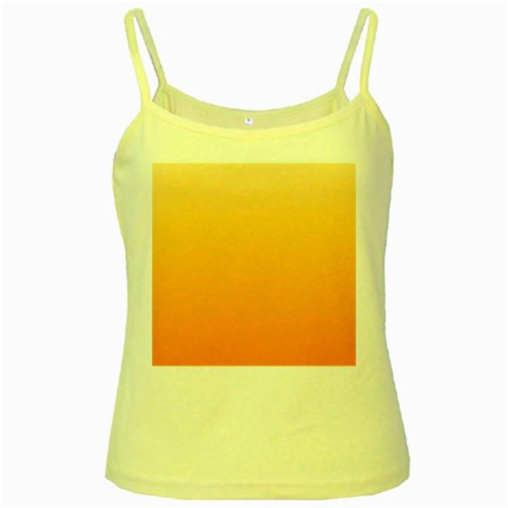 Peach To Orange Gradient Yellow Spaghetti Tank