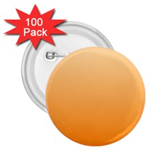 Peach To Orange Gradient 2.25  Button (100 pack)