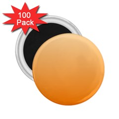Peach To Orange Gradient 2.25  Button Magnet (100 pack)