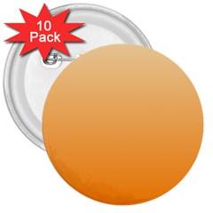 Peach To Orange Gradient 3  Button (10 pack)
