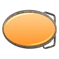 Peach To Orange Gradient Belt Buckle (Oval)