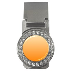 Peach To Orange Gradient Money Clip (cz)