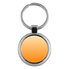 Peach To Orange Gradient Key Chain (Round)