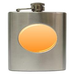Peach To Orange Gradient Hip Flask