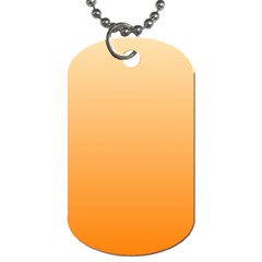 Peach To Orange Gradient Dog Tag (Two Sided)