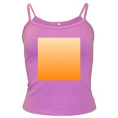 Peach To Orange Gradient Spaghetti Top (Colored)