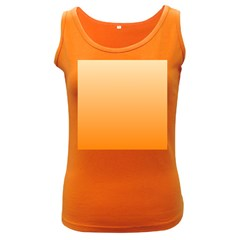 Peach To Orange Gradient Womens  Tank Top (Dark Colored)