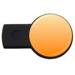 Peach To Orange Gradient 4GB USB Flash Drive (Round)