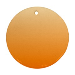 Peach To Orange Gradient Round Ornament (Two Sides)