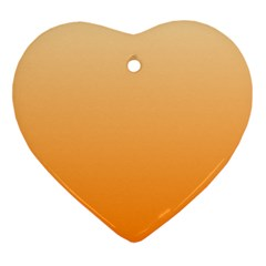 Peach To Orange Gradient Heart Ornament (Two Sides)