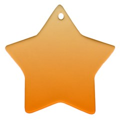 Peach To Orange Gradient Star Ornament (Two Sides)