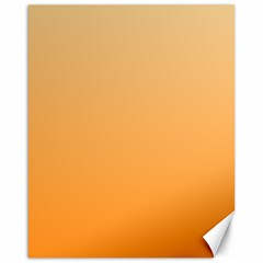 Peach To Orange Gradient Canvas 16  x 20  (Unframed)