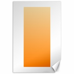 Peach To Orange Gradient Canvas 24  x 36  (Unframed)