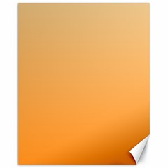 Peach To Orange Gradient Canvas 11  x 14  (Unframed)