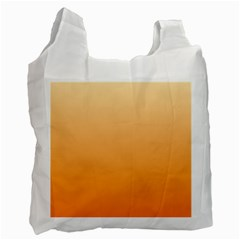 Peach To Orange Gradient Recycle Bag (one Side)