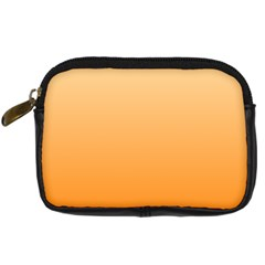 Peach To Orange Gradient Digital Camera Leather Case