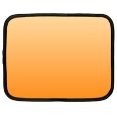 Peach To Orange Gradient Netbook Case (XL)