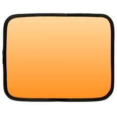 Peach To Orange Gradient Netbook Case (XXL)