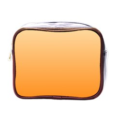 Peach To Orange Gradient Mini Travel Toiletry Bag (One Side)