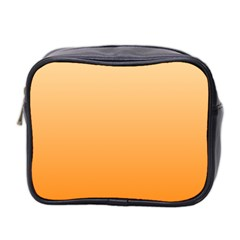 Peach To Orange Gradient Mini Travel Toiletry Bag (Two Sides)