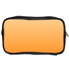 Peach To Orange Gradient Travel Toiletry Bag (One Side)
