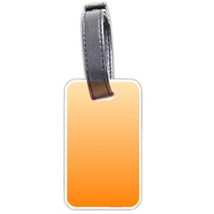 Peach To Orange Gradient Luggage Tag (One Side)