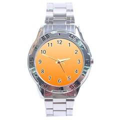 Peach To Orange Gradient Stainless Steel Watch (men s)