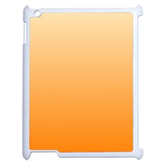 Peach To Orange Gradient Apple Ipad 2 Case (white)