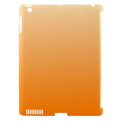 Peach To Orange Gradient Apple iPad 3/4 Hardshell Case (Compatible with Smart Cover)
