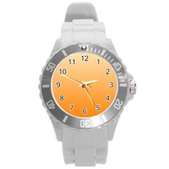 Peach To Orange Gradient Plastic Sport Watch (Large)