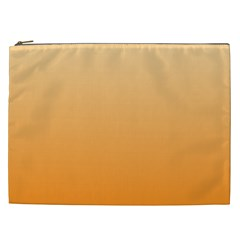 Peach To Orange Gradient Cosmetic Bag (xxl)