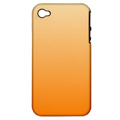 Peach To Orange Gradient Apple iPhone 4/4S Hardshell Case (PC+Silicone)