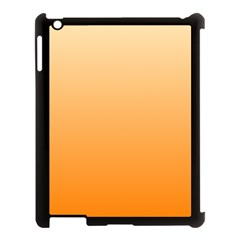 Peach To Orange Gradient Apple Ipad 3/4 Case (black)