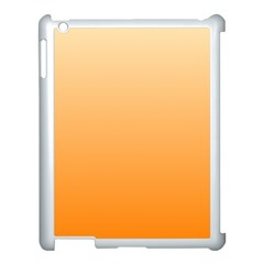 Peach To Orange Gradient Apple iPad 3/4 Case (White)