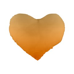 Peach To Orange Gradient 16  Premium Heart Shape Cushion