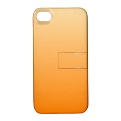 Peach To Orange Gradient Apple iPhone 4/4S Hardshell Case with Stand