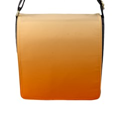 Peach To Orange Gradient Flap Closure Messenger Bag (large)