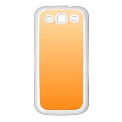 Peach To Orange Gradient Samsung Galaxy S3 Back Case (White)