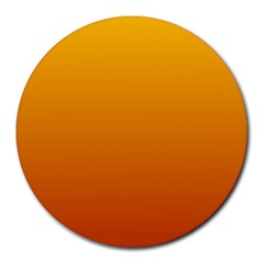 Amber To Mahogany Gradient 8  Mouse Pad (Round)